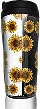 MKLQ Yellow Sunflower Black White Stripe Curved