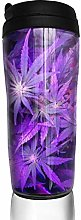 MKLQ Your Love Purple Weed Leaf Curved Coffee Cup