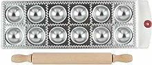 MKNZONE 12 Holes Stainless Steel Dumpling Maker