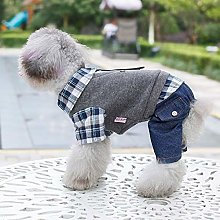 Mkulxina Pet clothing, British plaid shirt, Teddy