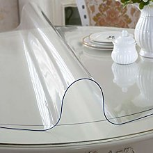 MKWEY Clear Table Cover Round 120 cm, Plastic