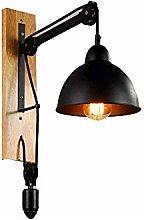 MKXF GYZLZZB Wall Lamp Loft Lift Pulley Wall Lamp