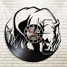 MLLL Record Wall Clock Vinyl Record Design Wall