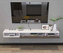 MLMHLMR Wall-mounted TV Rack Shelf Cabinet Media