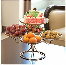 MLTYQ 2 Tier Fruit Basket Stand, Fruit Etagere -
