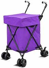 MLXSLC Folding Shopping Cart - Utility Cart -
