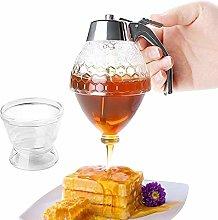 MLZYKYJZ Honey Drip Squeeze Bottle,Honey Jar