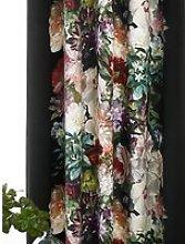MM Linen Fiori Pair Lined Velvet Eyelet Curtains,