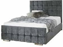 mm08enn Cubed Upholstered Bed Frame with Matching