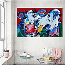 Mmdianpu Canvas Prints Animal Cow Wall Pictures