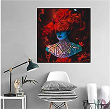 Mmdianpu Canvas Wall Art Modern Abstract Portrait