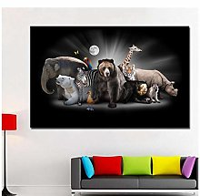Mmdianpu Picture - Hd Print Canvas Art Elephant