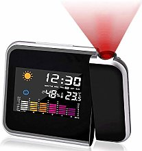Mmester Projection Alarm Clock, color screen