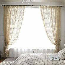 MMHJS 1 Piece Translucent Retro Hollow Curtain