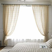MMHJS 1 Piece Translucent Retro Hollow Curtain