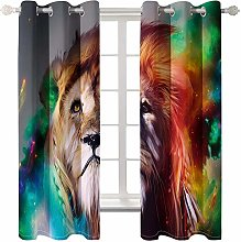 MMHJS 3D Animal Digital Printing Curtains For