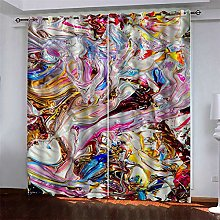 MMHJS 3D Christmas printing curtains, hotel