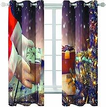 MMHJS 3D Christmas Series Printed Curtains,