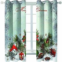 MMHJS 3D Christmas Tree Printing Curtains,