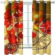 MMHJS Christmas Printed Curtains 3D Waterproof