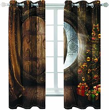 MMHJS Christmas Printing Series Curtains 3D