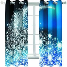 MMHJS Christmas Tree 3D Printing Curtains,