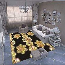 MMHJS European Style Simple Bohemian Print Carpet