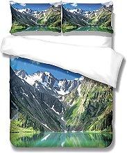 MMHJS Landscape Pattern Duvet Cover 3-Piece