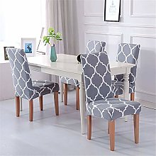 MMHJS Microfiber Printed Elastic Chair Cover Hotel