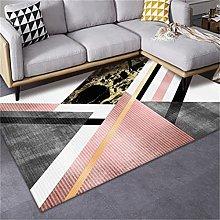 MMHJS Nordic Rectangular Printing Splicing Carpet