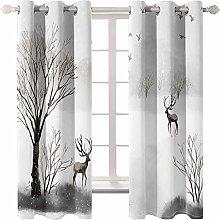 MMHJS Simple Style Forest Elk Series Printed