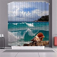 MMHJS Thick Polyester Curtain, European Style 3D