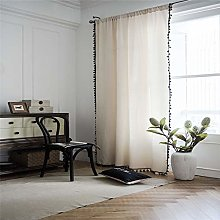MMHJS Thickened Cotton And Linen Curtain Partition