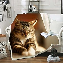 Mmjjshdp Blankets Animal Cat Printed Square
