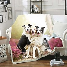 Mmjjshdp Blankets Animal Dog Printed Blanket Beds