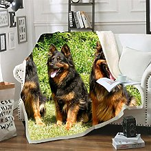 Mmjjshdp Blankets Animal Dog Printed Blanket