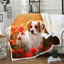 Mmjjshdp Blankets Dog Animal Sofa Throw Blanket