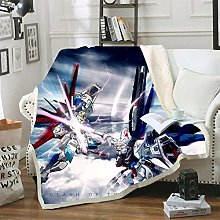 Mmjjshdp Blankets Gundam 3D Throw Blanket Print