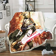 Mmjjshdp Blankets Gundam Anime Blanket Throw On