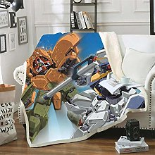 Mmjjshdp Blankets Gundam Sofa Bedding 3D Throw
