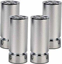 mmmy Adjustable Metal Furniture Legs,4 Pack
