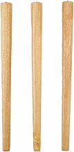 mmmy Set of 3 Solid Wood Table Legs,Conical Rubber