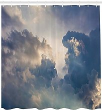 MMPTn Natural shower curtain rain storm cloud sky