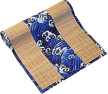 MMQGQ Bamboo Table Runner With Blue Sea Wave