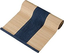 MMQGQ Dark Blue Bamboo Table Runners With Cotton