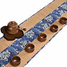 MMQGQ Japanese Bamboo Table Runner With Pattern,