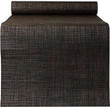 MMQGQ PVC Waterproof Table Runner,Dark Brown Woven