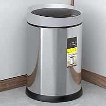 MNCYGJ Automatic Trashcan Odor Density with Sensor Trashcan Kitchen, 410 Stainless Steel Running Material Sensor Trash Can, Waterproof / 360 ° Detection / 5 Seconds Delay When Closing,Sand steel,6L