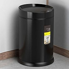 MNCYGJ Automatic Trashcan Odor Density with Sensor Trashcan Kitchen, 410 Stainless Steel Running Material Sensor Trash Can, Waterproof / 360 ° Detection / 5 Seconds Delay When Closing,black,6L