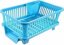 MNE Plastic Kitchen Sink Dish Drainer - Drying